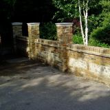 New Front Wall East Horsley 1