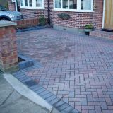 New Block Paved Drive in Brindles in Staines